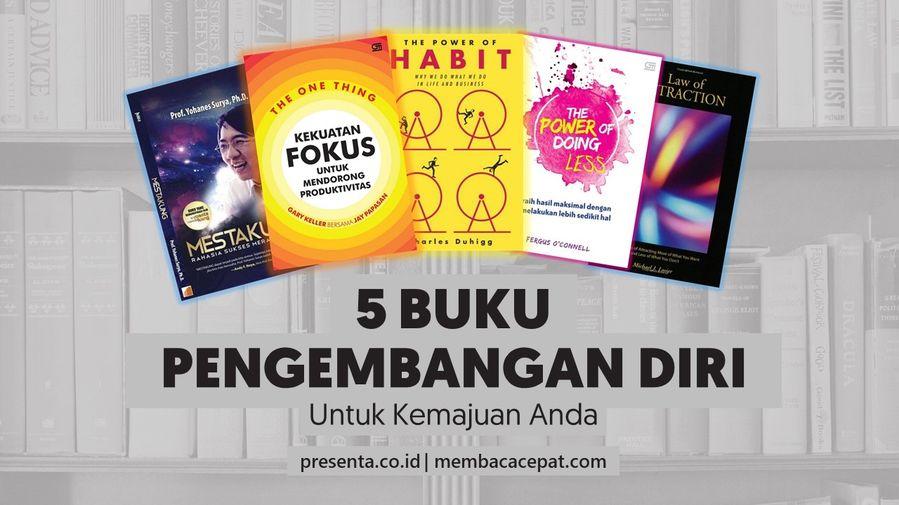 5 Buku Tentang Pengembangan Diri Untuk Kemajuan Anda