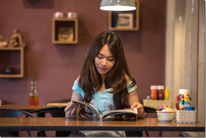 duduk tegak ketika membaca