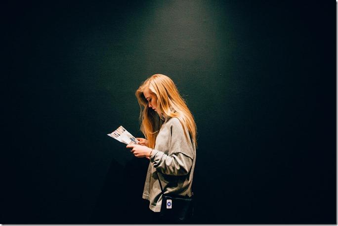 kecerahan pada saat membaca
