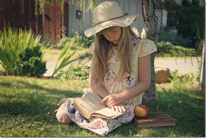 membaca di luar ruangan